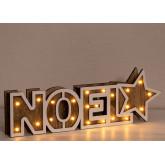 Panneau en bois de Noel avec lumières LED, image miniature 3