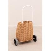 Panier sur roues en Ratan Baskyt Kids, image miniature 4