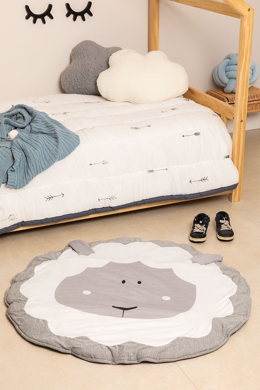 Tapis rond en coton (Ø90 cm) Jef Kids, image de la galerie 1