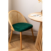 Chaise de salle à manger en bois Kloe, image miniature 1
