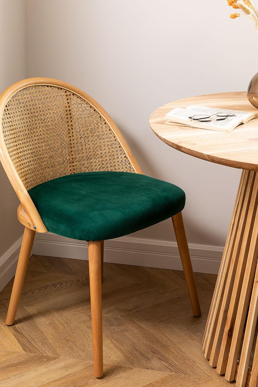 Chaise de salle à manger en bois Kloe, image de la galerie 1
