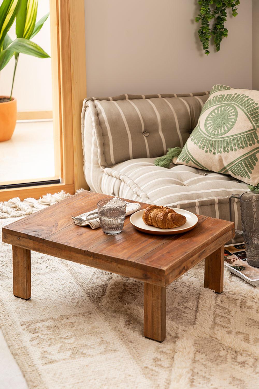 Table basse en bois recyclé Devid, image de la galerie 1