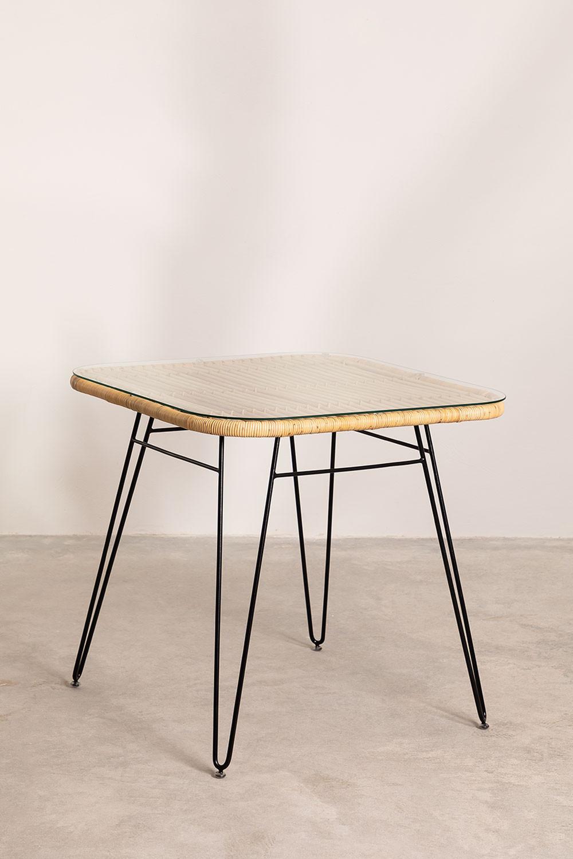 Table de salle à manger en rotin Zenta, image de la galerie 1