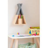 Étagère murale en bois pour enfants Sius, image miniature 1