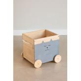 Chariot de rangement en bois pour enfants Madys, image miniature 2