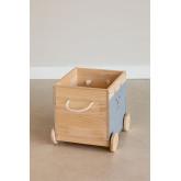 Chariot de rangement en bois pour enfants Madys, image miniature 3