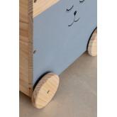 Chariot de rangement en bois pour enfants Madys, image miniature 4