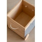 Chariot de rangement en bois pour enfants Madys, image miniature 5