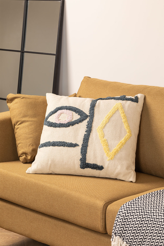 Coussin en coton (50x50 com) Mandi, image de la galerie 1