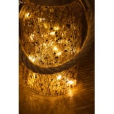 Bocal en verre avec lumières LED Gada, image miniature 5