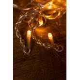 Rideau avec lumières LED (2 m) Jill Warm Light, image miniature 6