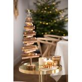 Sapin de Noël en bois avec lumières LED Madi, image miniature 1