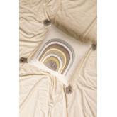 Coussin avec broderie en coton (45x45 cm) Cova, image miniature 1