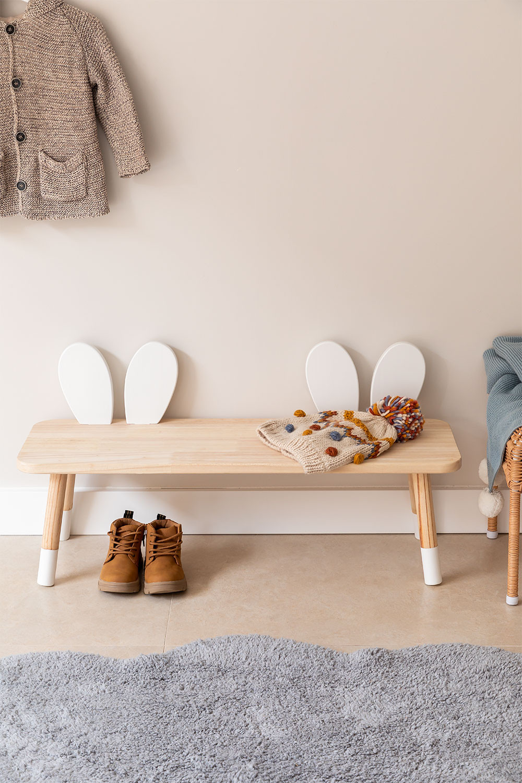 Banc en bois pour enfants Buny, image de la galerie 1
