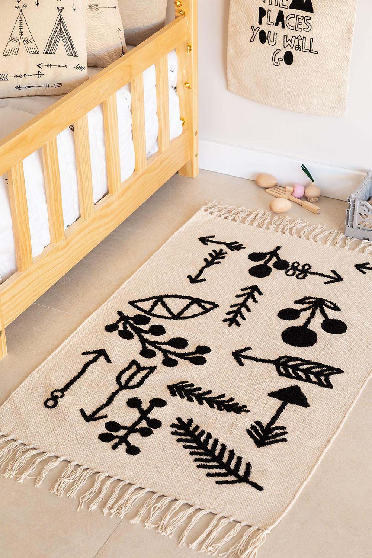 Tapis rectangulaire en coton (110x62 cm) Indi Kids, image de la galerie 1
