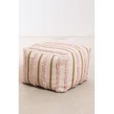 Pouf carrée en coton Yampi, image miniature 2