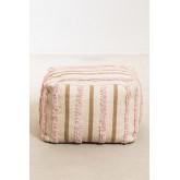 Pouf carrée en coton Yampi, image miniature 3