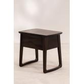 Table de chevet en bois de teck Somy, image miniature 4