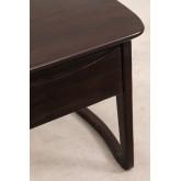 Table de chevet en bois de teck Somy, image miniature 5