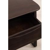 Table de chevet en bois de teck Somy, image miniature 6