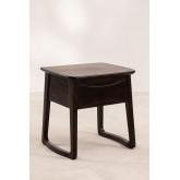 Table de chevet en bois de teck Somy, image miniature 2