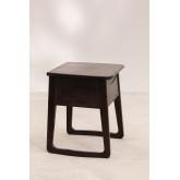 Table de chevet en bois de teck Somy, image miniature 3