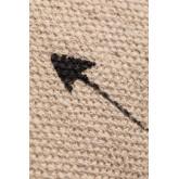 Coussin carré en coton (45x45 cm) Indi Kids, image miniature 4