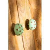 Lot de 2 poignées en céramique Perpi, image miniature 2