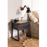 Table de chevet en bois de teck Somy, image miniature 1