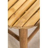 Tabouret bas en bambou Dilio, image miniature 4