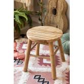 Tabouret bas en bambou Dilio, image miniature 1