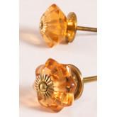 Ensemble de 2 boutons en cristal Dagny, image miniature 1