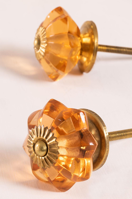Ensemble de 2 boutons en cristal Dagny, image de la galerie 1