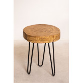 Table d'appoint en bois naturel Kolej, image miniature 2