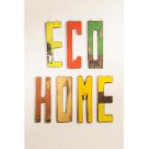 Lettres décoratives en bois recyclé List, image miniature 1