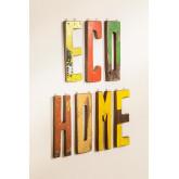 Lettres décoratives en bois recyclé List, image miniature 2