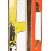 Lettres décoratives en bois recyclé List, image miniature 3