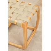 Tabouret bas en bois de frêne et similicuir Simon, image miniature 4