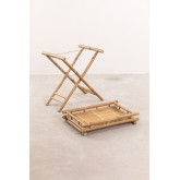 Table d'appoint pliante Wallis avec plateau en bambou, image miniature 3