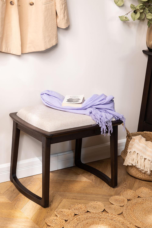 Tabouret bas en bois de teck Somy, image de la galerie 1