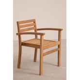 Chaise de jardin avec accoudoirs en bois de teck Pira, image miniature 2
