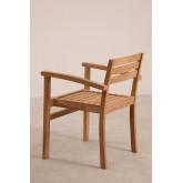 Chaise de jardin avec accoudoirs en bois de teck Pira, image miniature 3