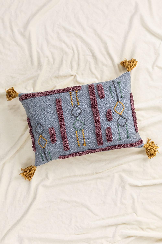 Coussin rectangulaire en coton (40x60 cm) Kansas, image de la galerie 1