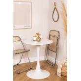 Table à manger ronde en MDF et métal de style Tuhl, image miniature 1