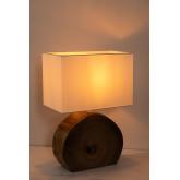 Lampe de table en bois et tissu Abura, image miniature 4