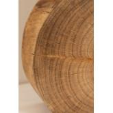 Lampe de table en bois et tissu Abura, image miniature 6