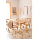 Table à manger rectangulaire en bois de frêne (160x80 cm) Keira, image miniature 1