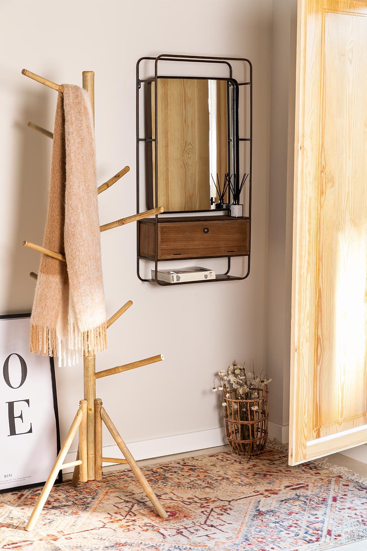 Porte-manteau en bambou Sokka, image de la galerie 1