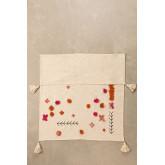 Couverture à carreaux en coton à pompon, image miniature 2