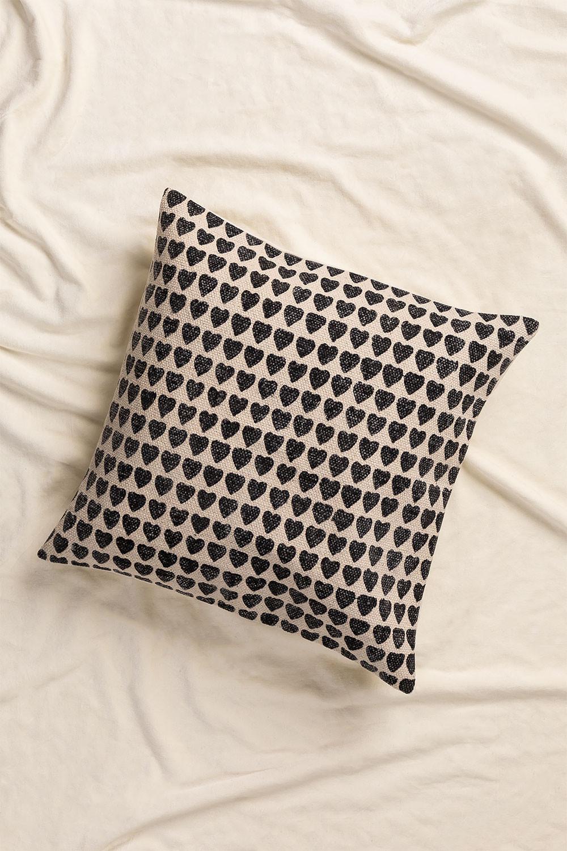 Coussin carré en coton (50x50cm) Urub, image de la galerie 1
